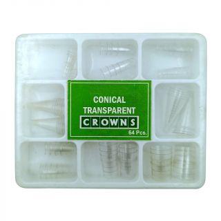 Transparent Conical Crowns 64pc - Apex