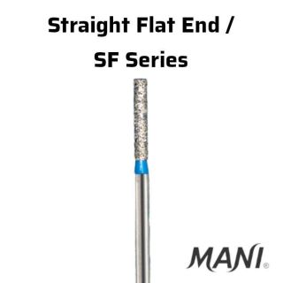 Diamond Bur FG Straight Flat End / SF Series - Mani