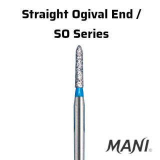 Diamond Bur FG Straight Ogival End / SO Series - Mani