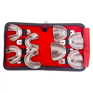 Impression Tray Edentulous Perforated Set 8Pc - Precision