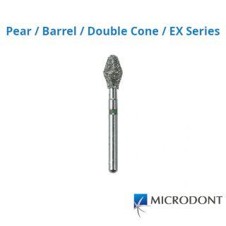 Diamond Bur FG Pear / Barrel / Double Cone / EX Series - Microdont