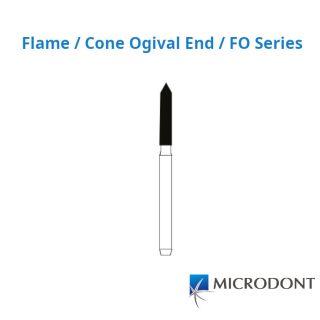 Diamond Bur FG Flame / Cone Ogival End / FO Series - Microdont