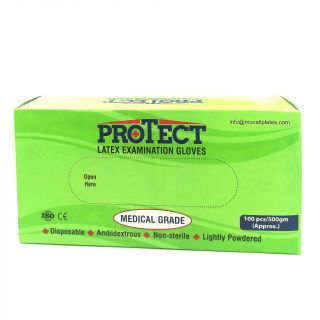 Gloves Latex Powdered Small 100Pc - Protect