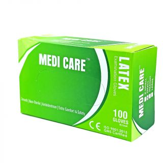 Gloves Latex Powdered 100Pc - Medicare