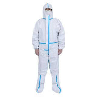 Coverall 90 GSM Non Woven Laminated and Seams Taped with Shoe Cover - Microne