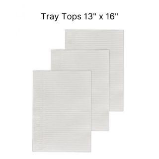 "Disposable Tray Tops 13""x16"" 50Pc - Capri"